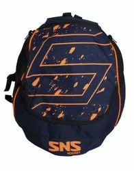 Navy-Orange Durable 600 denire material. SNS Compact Hockey Stick Backpack, Size: Standatd