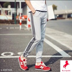 Striped Black Brown Whait Red Green Mens Joggers