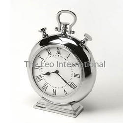 Round shape stainless steel Table clock