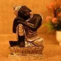 Silver Plated Black Budha Statue