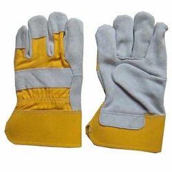黄色和灰色尼龙加拿大手套