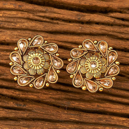 Wedding And Party Women S Gold Plated Antique Trendy Stud Earring 19739
