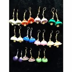 Multicolor Jhumka Style Silk Thread Designer Earrings, Size: Available In Multiple Sizes