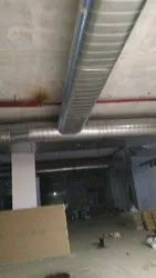 Galvanized Iron Flat Oval Spiral Duct, for Hvac Ducting