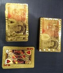 GOLD FOIL COLOURED PLAYING CARDS POUND