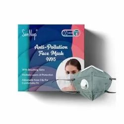 Anti-Pollution N95 Face Mask with Breathing Valve and Ear Loops - San Nap
