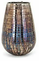 Silver Decorative Glass Vases, Shape: Cylindrical