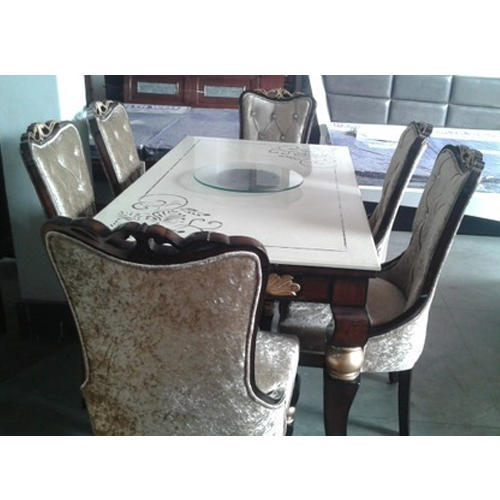 Commercial Wood Marble Dining Table Rs 59500 Set Jay Mata