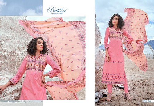 d848937b42 Party Wear Printed Belliza Designer Studio Nazrana Cotton Fabric Salwar  Suits