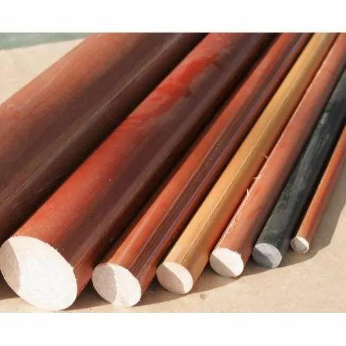 Round Brown Bakelite Rod, Size: 300mm Length