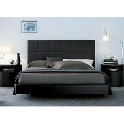 Black Wooden Bed