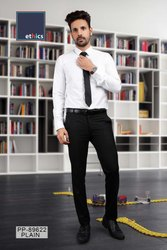White Men's Formal Unstitched Uniform Shirt and Pant