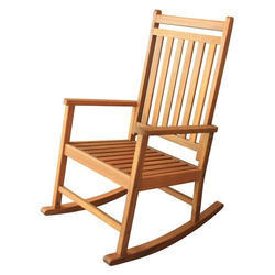 Polished Wooden Rocking Chair