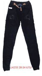 Mens Black Torn Jeans