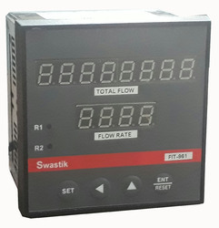 Swastik Flow Rate Indicator Cum Totalizer, FIT-961