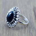 925 STERLING SILVER JEWELRY BLACK ONYX GEMSTONE DESIGNER RING WR-5188