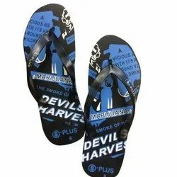 Daily Wear Mens Rubber Slipper, Design/Pattern: Printed, Size: 8