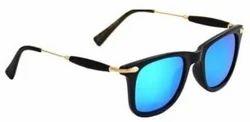 PIXLTOUCH Golden Stick Blue Mercury Unisex Sunglasses