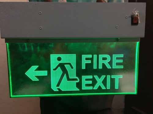 Laser Type Fire Exit Sign Double Sided At Rs 3450 Piece