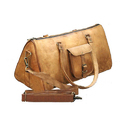Brown Leather Duffle Bag ( Triangle )