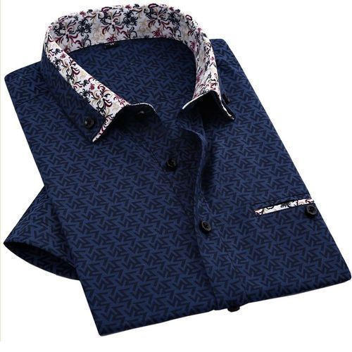 57c664d2e28 Party Wear Printed Men  s Collar Shirt