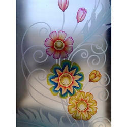 4 Feet Flower Design Glass