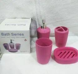 Plastic Multicolor Bathroom Accessories, For Home, Size: Medium