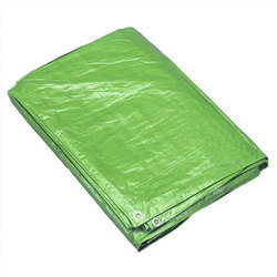 Green Woven Heavy Duty Tarpaulins, For Cover, Thickness: 30 Micron