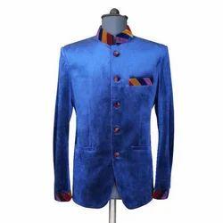 Blue Velvet Jodhpuri Coat