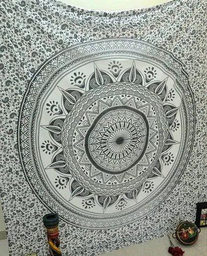 Bohemian Mandala Print 100% Cotton Wall Hanging Tapestry