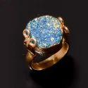 Fashion Gold Plated Gemstone Women Wedding Ring