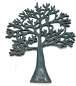 26 X 2 X 35 Cm And Aluminium Wall Decor Tree