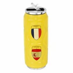 Yellow CASPIAN Kids Vacuum Insulated Stainless Steel Sports Sipper Bottle, Model Name/Number: Fs 500 Y, Capacity: 500 Ml