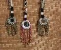 Mirror With Bead Fancy Bag Tassel