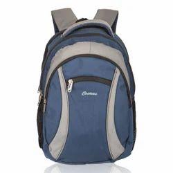 Navy Blue & Light Grey Warrior Laptop Backpack Bag