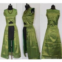 Long Designer Plain Kurti, Size: S-XL