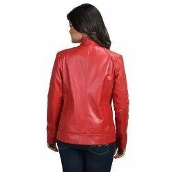 Full Sleeve Women Leather Ladies Jackets