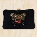 Designer Ladies Velvet Clutch Bag