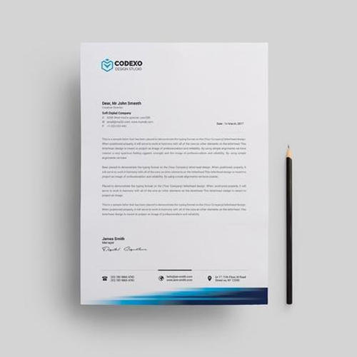 Executive Stationery Letterhead Business Letterhead 8370: Corporate Letterhead At Rs 3 /piece