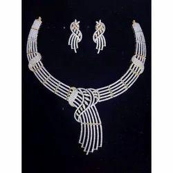 American Diamond Necklace Set