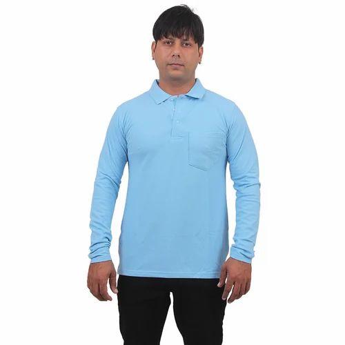 2cae1ab6fa36 Men's Cotton Light Blue Polo T Shirts, Rs 290 /piece, Shivalik ...