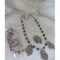 Oxidised German Beaded Neckpiece