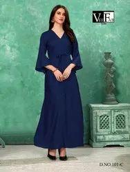 Colorbar Vol 2-Vf India Stylish Casual Rayon  Long Kurtis