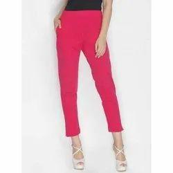 Cotton Plain Red Lux Lyra Legging