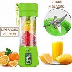4 Blade Portable Electric Mini Juicer Bottle Blender