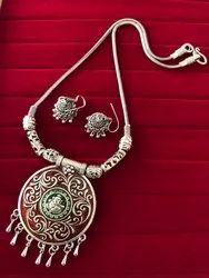 Designer Necklace with Matching Jhumka