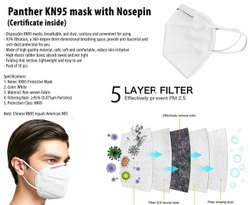 Panther KN95 Mask With Nosepin