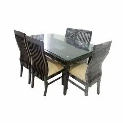 Brown Modern Wooden Dining Table Set