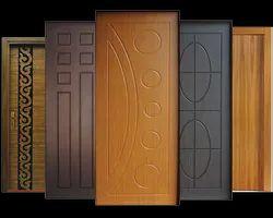 Brown Wood membrane door, For Home, Door Height: 7ft