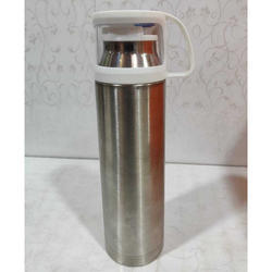 Import Silver Water Bottle with Cup, Capacity: 900 Ml